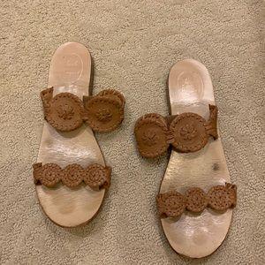"""women's brown jack rodgers """"lauren"""" sandal"""